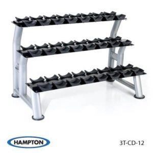 Hampton Chrome Dumbbell Saddle Rack