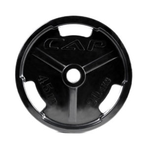 CAP OLYMPIC RUBBER COATED GRIP PLATE - 45 LB