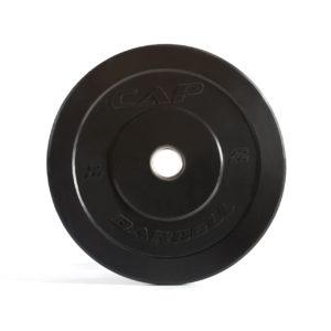 CAP OLYMPIC RUBBER BUMPER PLATES - BLACK - 10 LB