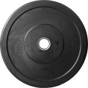 CAP OLYMPIC RUBBER BUMPER PLATES - BLACK - 35 LB