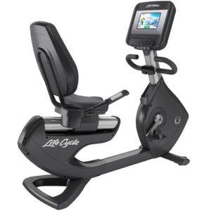 Life Fitness Platinum Club Series Recumbent Lifecycle Exercise Bike With Discover SI Console