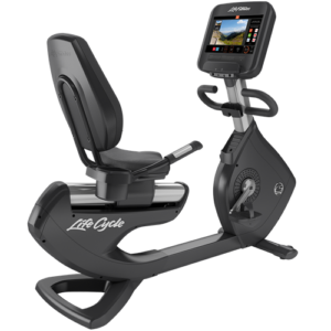 Life Fitness Platinum Club Series Recumbent Lifecycle Exercise Bike With SE3 Console