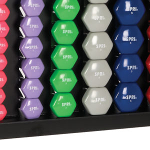 SPRI Premium Vinyl Dumbbell Weight Rack